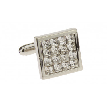 Mens Darya Trading Multi Crystal Cufflin - Image1