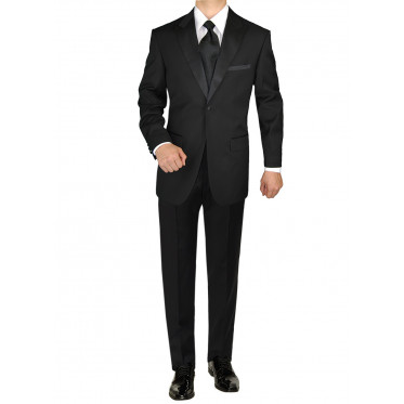 Mens Giorgio Napoli Tuxedo Suit 1 Button - Image1