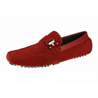 Mens Salvatore Exte Suede Leather Drivin - Image1