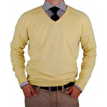 Mens Luciano Natazzi V-neck Cotton Sweat - Image1