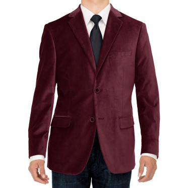 Mens Luciano Natazzi Two Button Velvet B - Image1