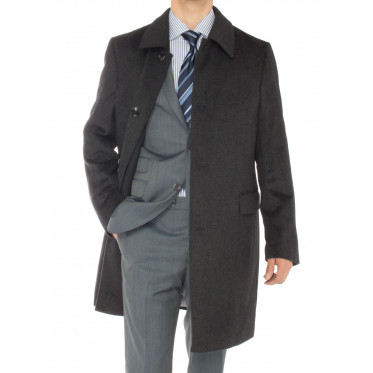 Mens Luciano Natazzi Cashmere Topcoat Cl - Image1