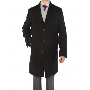 Mens Luciano Natazzi Trend Fit Overcoat  - Image1