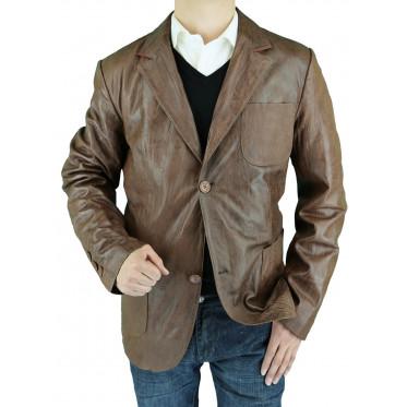 Mens Luciano Natazzi Leather Jacket Fitt - Image1