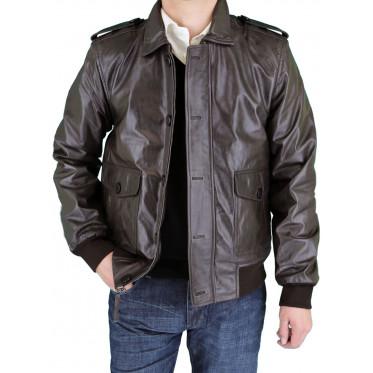Mens Luciano Natazzi Leather Jacket Shir - Image1