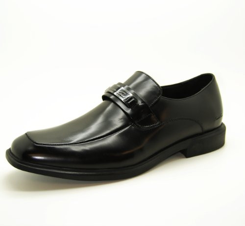 Mens Kenneth Cole New York Takins Stock Leather Dress Slip On Shoes