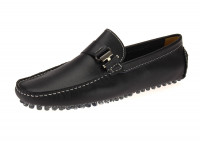 Mens Salvatore Exte Leather Driving Shoe - Image1