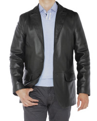 Mens Luciano Natazzi Lambskin Leather Bl - Image1