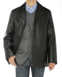 Mens Luciano Natazzi Lambskin Leather To - Image1