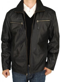 Mens Luciano Natazzi Leather Double Coll - Image1