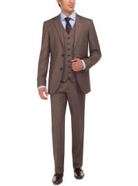Mens Luciano Natazzi Two Button Tweed 3  - Image1