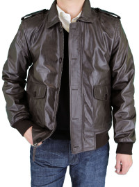 Mens Luciano Natazzi Leather Jacket Shir - Image1