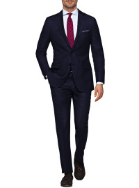 Mens Luciano Natazzi Modern Fit Suit Woo - Image1
