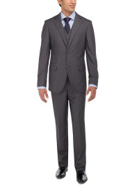 Mens Luciano Natazzi Vested 3-Piece Suit - Image1