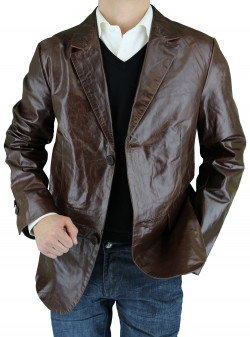 Mens Luciano Natazzi Leather Jacket Mode - Image1