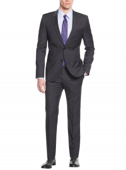 Mens Nicoletti Two Button Modern Fit Sui - Image1