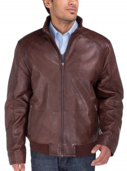 Mens Luciano Natazzi Lambskin Leather Vi - Image1