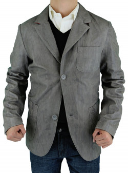 Mens Luciano Natazzi Leather Jacket Fitt - Image1