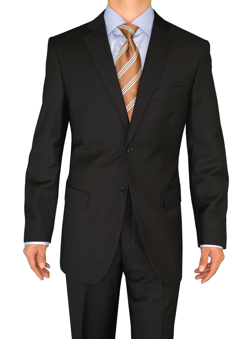 Mens Black 2 Button Classic Fit Suits By Darya Trading