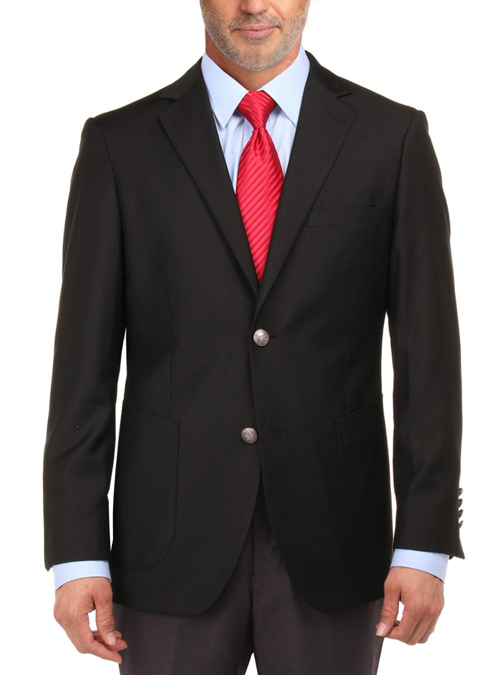 Mens Black 2 Button Blazers Coats By Salvatore Exte