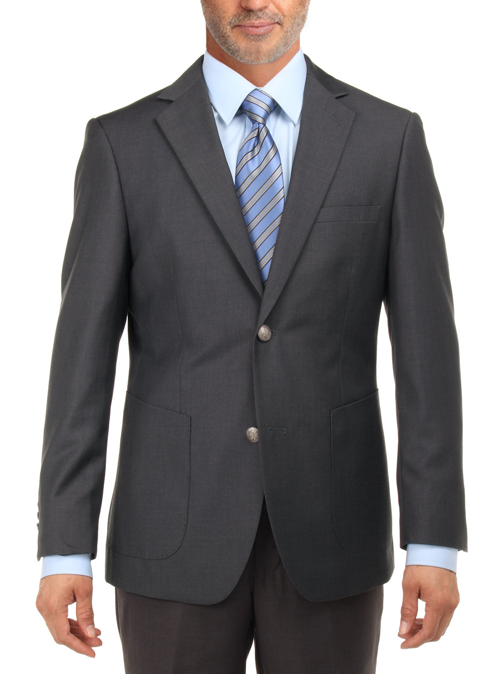Mens Charcoal 2 Button Blazers Coats By Salvatore Exte
