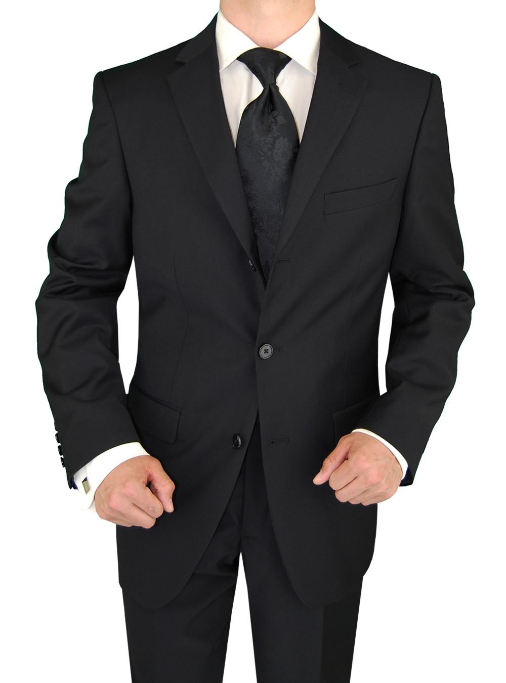 Mens Black 3 Button Classic Fit Suits By Giorgio Napoli
