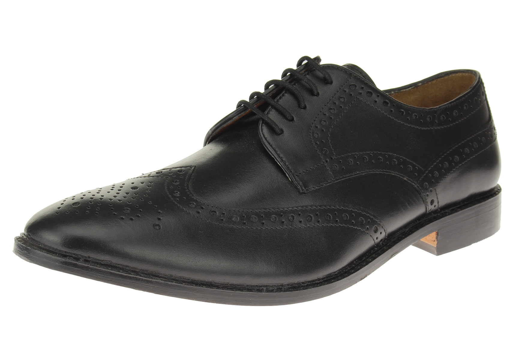 Luciano Natazzi Mens Full Leather Wingtip Oxford Lace-Up Dress Shoe SL301