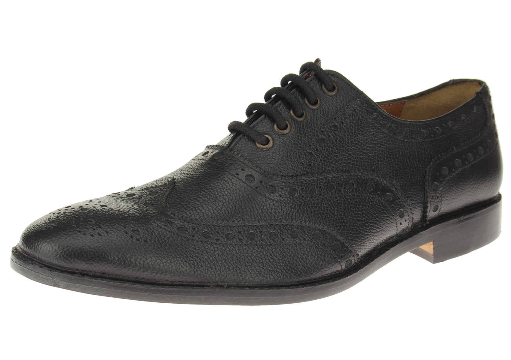 Mens Luciano Natazzi Full Leather Modern Wingtip Oxford