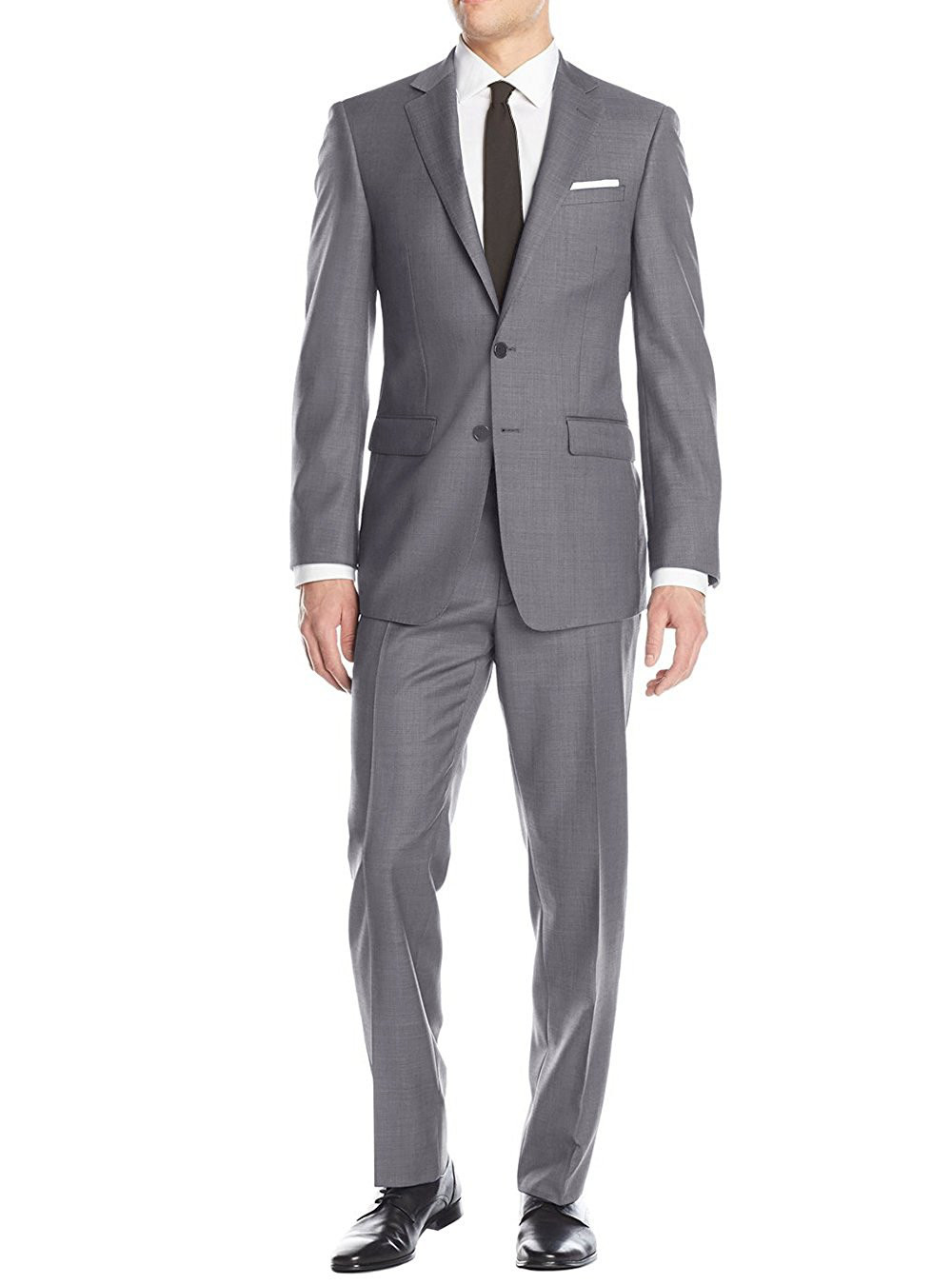 Mens Charcoal Modern Fit Suits By Luciano Natazzi