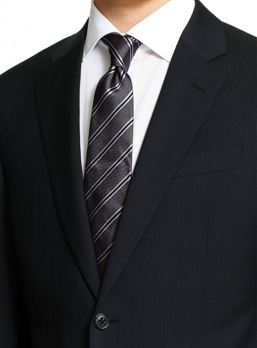 Mens Black 2 Button Modern Fit Suits By Luciano Natazzi